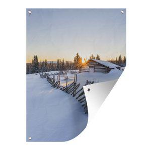 Gartenposter - Holzhütte - 60x80 cm