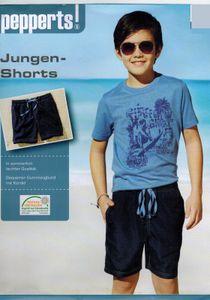 Junge Shorts Polyester Pepperts 122/128 Blau