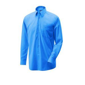 Hemd langarm Farbe royal blue Größe 48