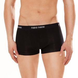 6er Pack Fabio Farini Boxershorts  - Baumwolle Herren Unterwäsche Pants, Größe:L, Farbe:6x Schwarz
