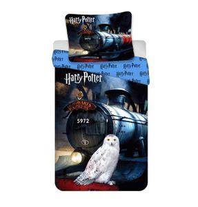 Harry Potter Wende Bettwäsche Hogwarts Express Kopfkissen Bettdecke für 135x200 cm