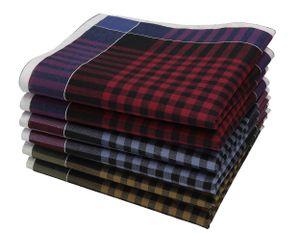 Betz 6 Stück Herren Stoff Taschentücher Set Leo 2 Dessin 06 100%Baumwolle Größe 40x40 cm Menge - 6 Stück