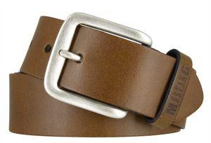 MUSTANG Gürtel Herrengürtel Ledergürtel Jeansgürtel Braun 7594, Länge:125, Farbe:Braun