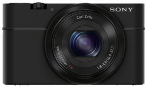 Sony Digitalkamera Cyber-Shot DSC-RX100, 20MP, 3,6x opt. Zoom, Farbe: Schwarz