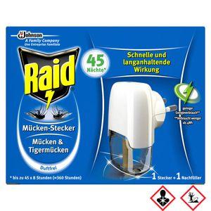 Raid Mücken und Tigermücken Stecker für 45 Nächte Original 27ml