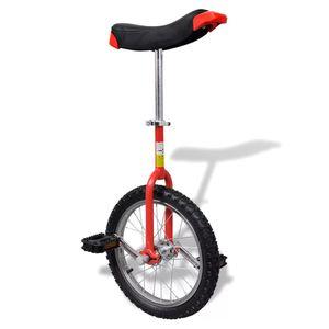 dereoir Einstellbares Einrad 40,7 cm rot
