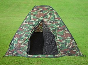 HUKITECH Sekundenzelt Schnellaufbauzelt (selbstaufbauend) - bis zu 4 Personen - Angelzelt Kinderzelt Wurfzelt Pop Up Zelt