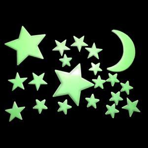60 Stück Leuchtsterne Nachtleuchtend Sternenhimmel Stern Mond Leucht Sterne