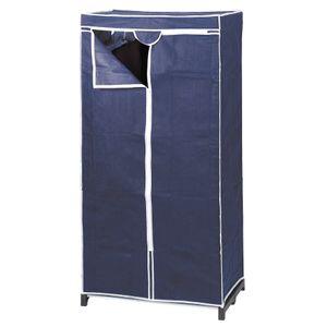 Kleiderschrank blau 150x75x50 cm
