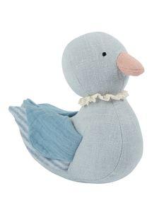 Bieco Enten Kuscheltier | 20 cm | Leinen & Baumwoll Kuscheltier für Babys | Stuffed Animal | Ente Stofftier Baby | Baby Kuscheltiere | Plüsch Ente aus Leinenstoff & Musselin | Baby Kuscheltier Ente