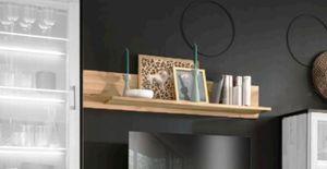 Frame Wandboard 130x22 Eiche Schwarz / Braun