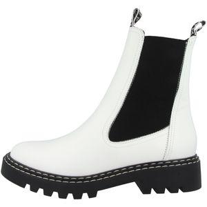 Tamaris Damen Chelsea Boot weiß 1-1-25455-25 normal Größe: 39 EU