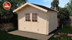 Gerätehaus Holz 28 mm Weka Gartenhaus 209 Gr.2,5 natur 333x310cm