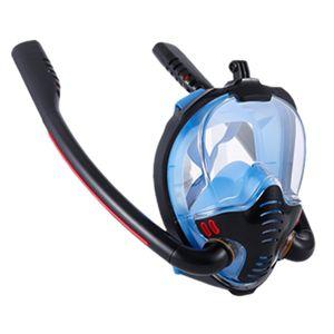 Neue Unterwasser Scuba Anti Fog Vollen Gesicht Tauchen Maske Schnorcheln Set Atemwege Masken Sicher und Wasserdicht Schwimmen Ausrüstung Farbe Blau S.