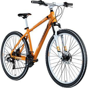 Galano Toxic 29 Zoll Fahrrad Mountainbike Hardtail mountainbiken MTB 21 Gang biken Rad Mountain Bike mit Federung, Farbe:orange