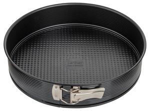 Zenker Springform Ø 30 cm BLACK METALLIC, Backform mit Antihaftbeschichtung, runde Kuchenform mit Flachboden (Farbe: Schwarz), Menge: 1 Stück