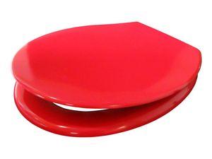 WC-Sitz ELBA rot mit Absenkautomatik Toilettenbrille Toilettensitz Klobrille