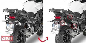 Givi Rapid Seitenkoffer Träger abnehmbar für Honda VFR 800 Crossrunner