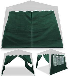 Deuba 2x Seitenteil grün für Pavillon Capri 3x3m wasserdicht Pop-Up inkl. Tasche UV-Schutz 50+ Faltpavillon Gartenzelt Partyzelt