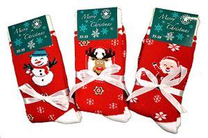3 Paar Damen Thermo-Socken rot Gr. 35/38