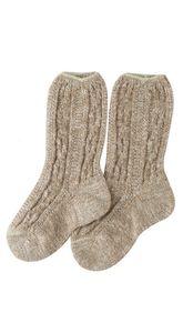 Kinder Socken Pauli in Beige von Dirks, Größe:32