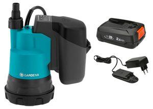 GARDENA Akku-Klarwasser-Tauchpumpe 2000/2 18V P4A Ready-To-Use Set 14600-61