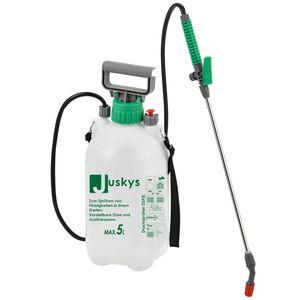 Juskys Drucksprüher DSF5L 5 Liter – Drucksprühgerät mit Überdruckventil & verstellbarer Düse – Unkrautspritze inkl. Tragegurt, Schlauch & Lanze