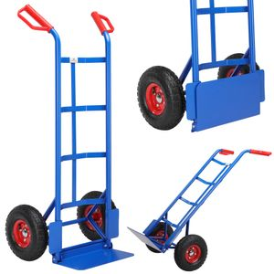 Gardebruk Sackkarre klappbar bis 200kg Luftreifen Haltegriffe Karre Transportkarre Stapelkarre Transportwagen
