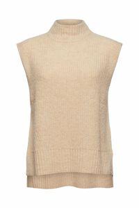Mit Wolle/Alpaka: Pullunder mit Stehkragen