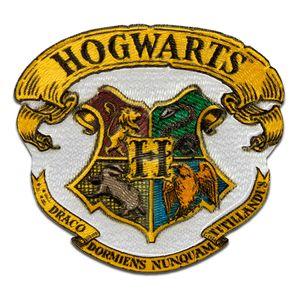 Harry Potter © Hogwarts Wappen  - Aufnäher, Bügelbild, Aufbügler, Applikationen, Patches, Flicken, zum aufbügeln, Größe: 5,7 x 6 cm