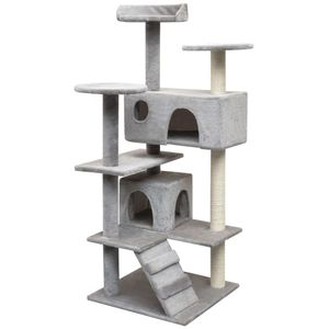 Katzen-Kratzbaum Sisal 125 cm Grau