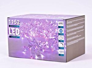 Cluster Light - 1152 LED Lichterkette - Farbe: pink/blau - 650 cm
