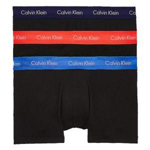 Calvin Klein Herren Boxershorts Baumwolle Stretch Low Rise 3er Pack BLACK L