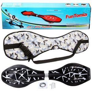 FunTomia® mit LED-Rollen - 2276 - Design schwarz weiß - Waveboard ORIGINAL