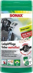 Sonax | CockpitPflegeTücher Matteffect Green Lemon ( 25 Stück ) (04128000)
