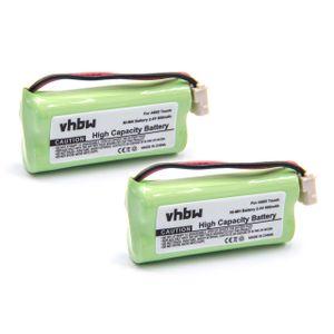vhbw 2x NiMH Akku 800mAh (2.4V) kompatibel mit Babyphone, Babyfone, Babytalker Audioline Baby Care 7 Ersatz für VTECH73C02.