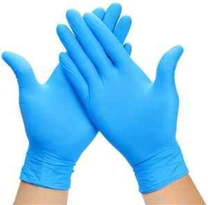 100 Stück Nitril Blau Einweghandschuhe Größe M Puderfreie medizinische Untersuchungshandschuhe