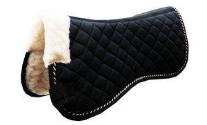 AMKA Sattelpad mit Widerristpolster und schöner Kordeleinfassung, Farbe:schwarz