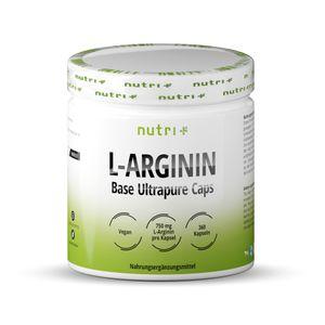 L-ARGININ BASE Kapseln - 100% reines pflanzliches L-Arginine - Höchste Dosierung - 360 Caps ohne Magnesiumstearat - fermentiert & vegan