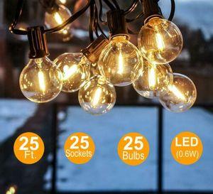 Lichterkette Außen/Innen, Hängende Lichterkette Glühbirne Retro 25pcs/G40 Birnen