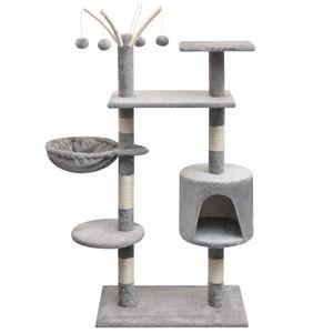 Katzen-Kratzbaum 125 cm Grau