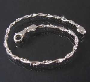 Armkette 2 Ketten Schlangenkette+ Kugelkette 925 Silber 17cm 16822-17