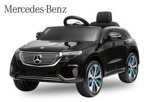 Lizenz Elektro Auto Mercedes Benz EQC 400 Schwarz
