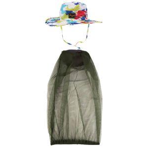 2 Stück Outdoor Boonie Hut Sommer Sun Caps & Net Pack, ausgezeichneter Weiß Mutil Freie Größe