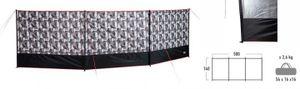 High Peak windschutz Marin 140 x 500 cm Polyester schwarzgrau