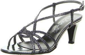 Vista Damen Sandaletten schwarz, Größe:37, Farbe:Schwarz
