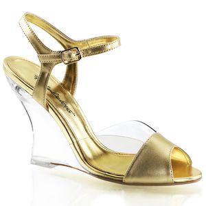 Fabulicious LOVELY-442 Keilpumps gold, Größe:EU-38 / US-8 / UK-5