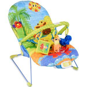 COSTWAY Babywippe Babywiege Schaukelwippe Schaukelsitz Babyschaukel Babysitz mit Vibrationsfunktion Musik modell 2
