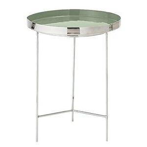 Bloomingville Beistelltisch silber / grün 40 cm
