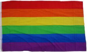 Flagge Regenbogen / Frieden 90 x 150 cm  - Fahne- reißfest - rissfest - Hissfahne- Hissflagge - Sturmflagge -zum hissen - ! - keine billige Chinaqualität!